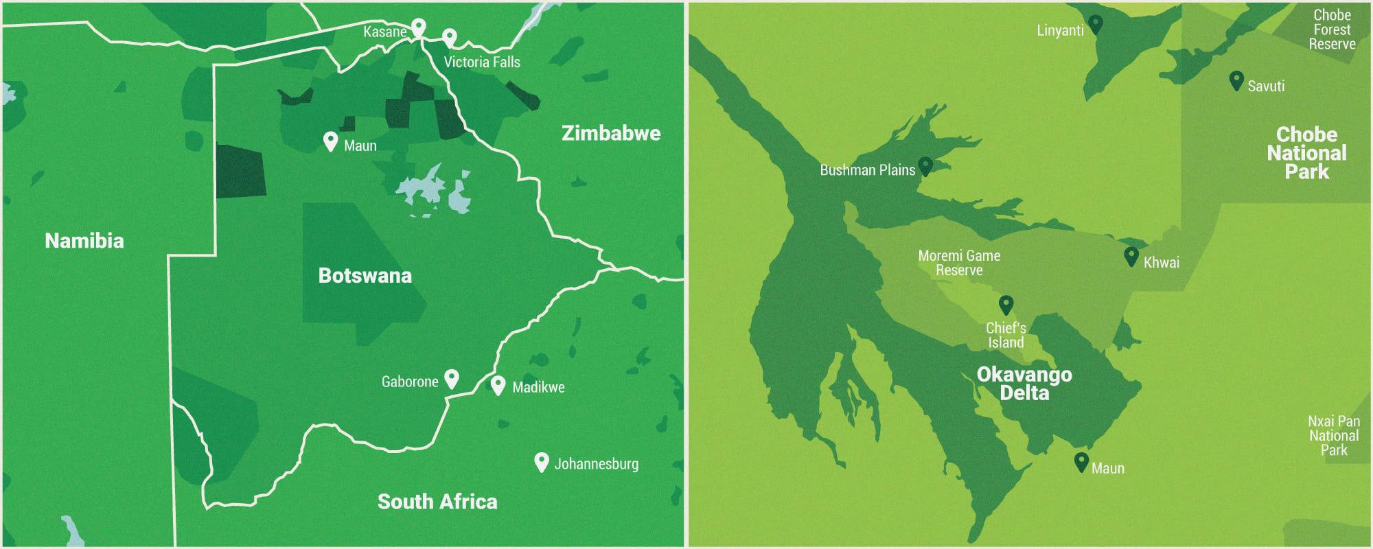 Map of the Okavango Delta